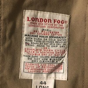 London Fog Jackets & Coats - London Fog 44long trench coat tan